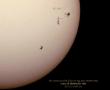 Passaggio ISS su Sole