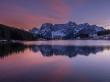 Tramonto sul lago di Misurina